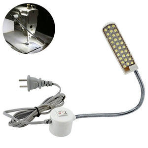 2TRIDENTS Sewing Desk Lamp - 2W 30LED Magnetic Mounting Base Gooseneck Lamp for Sewing Machine