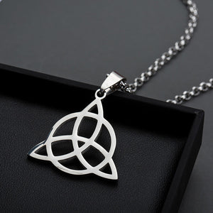 ENXICO Trinity Celtic Knot The Triquetra Pendant Necklace ? 316L Stainless Steel ? Irish Celtic Jewelry