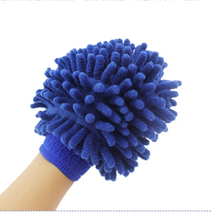 2TRIDENTS Set of 2 Pcs Non Scratch Clay Mitt Washing Glove for Car Door Glass Window Mirror Home - Random Color