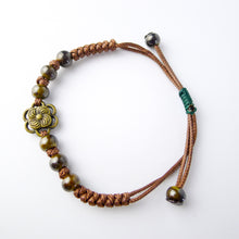 Load image into Gallery viewer, HoliStone Adjustable Handmade Ethnic Boho Style Flower Bracelet Lucky Charm for Women