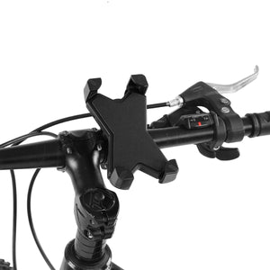 2TRIDENTS Bicycle Phone Holder with 360 Degree Rotation Bike GPS Mount Bracket Anti Shake for Motorcycle, Cycling Bike, Treadmill (Black)