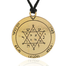 Load image into Gallery viewer, ENXICO Second Pentacle of Jupiter Seal of Solomon Talisman Pendant Necklace ? Bronze Plated
