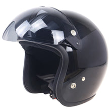 Load image into Gallery viewer, 2TRIDENTS Universal Windproof 3-Snap Motorcycle Helmet With Flip Up Visor Wind Shield - Safety Helmet and Hearing Protection System (Clear)