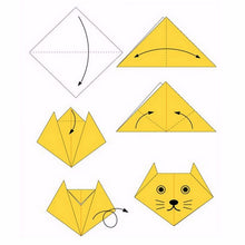Load image into Gallery viewer, 2TRIDENTS Colorful Origami Paper for Beginners Trainning and School Craft Lessons - Premium Quality for Arts and Crafts (200pcs 100x100mm)