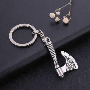 GUNGNEER Celtic Trinity Knot Tree of Life Pendant Necklace Viking Axe Key Chain Jewelry Set