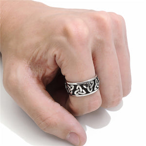 ENXICO Triquetra The Trinity Celtic Knot Ring ? 316L Stainless Steel ? Irish Celtic Jewelry … (10)