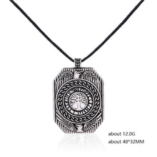 Load image into Gallery viewer, ENXICO Shield Amulet Pendant Necklace with Yggdrasil Tree of Life Pattern ? Gold Color ? Norse Scandinavia Viking Jewelry