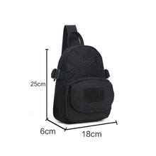 Load image into Gallery viewer, 2TRIDENTS Waterproof Military Shoulder Bag - Crossbody Backpack Bag - Suitable for Trekking, Hiking, Climbing, Camping, Running and Other Outdoor Activities (1C)