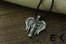 Load image into Gallery viewer, ENXICO Guardian Angel Knight Figure Amulet Pendant Necklace ? Silver Color