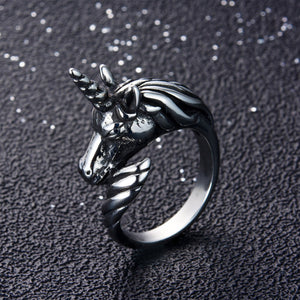 ENXICO Black Unicorn Ring for Men ? Best Gift for Unicorn Lover ? 316L Stailess Steel ? Legendary Animal Jewelry (10)
