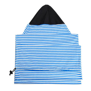 2TRIDENTS Surfboard Sock Cover Ultra Light Protective Bag for Your Surfboard Essential Surfing Accessories (Black White 6.3)