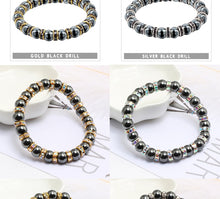 Load image into Gallery viewer, HoliStone Classic Hematite Beaded Bracelet ? Anxiety Stress Relief Yoga Meditation Energy Balancing Lucky Charm Bracelet for Women and Men