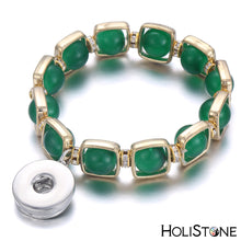 Load image into Gallery viewer, HoliStone Natural Stone Bracelet with Snap Button ? Stress Diffuser Energy Balancing Lucky Charm Bracelet for Women and Men