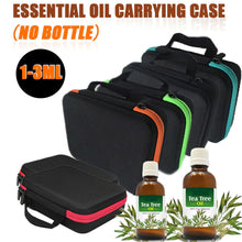 Load image into Gallery viewer, 2TRIDENTS Essential Oil Carrying Case Storage Box for 63 Holders of 3ml Bottles Handheld Bag Travel Friendly (Black)