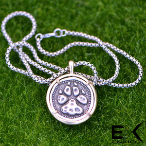 ENXICO Bear Paw Amulet Pendant Necklace ? 316L Stainless Steel ? Nordic Scandinavian Viking Jewelry