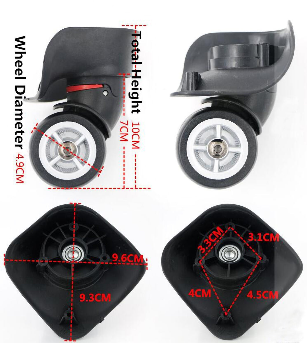 2TRIDENTS 360 Degree Swivel Caster Wheel Outdoor Luggage Travel Suitcase Replacement - Bearings Repair Set for Luggage Kits