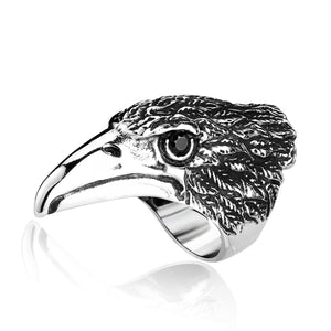 ENXICO Eagle Head Ring ? 316L Stainless Steel ? Animal Spirit Totem Jewelry (10)
