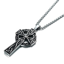 Load image into Gallery viewer, ENXICO Celtic Cross Pendant Necklace ? 316L Stainless Steel ? Irish Celtic Jewelry … (Gold)