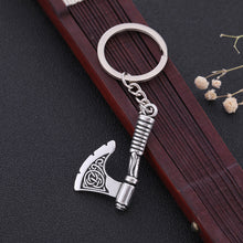 Load image into Gallery viewer, GUNGNEER Celtic Trinity Knot Tree of Life Pendant Necklace Viking Axe Key Chain Jewelry Set
