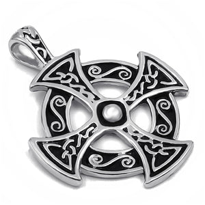 ENXICO Celtic Cross Pattée Charm Pendant Necklace for Women & Men ? Pewter ? Irish Celtic Jewelry
