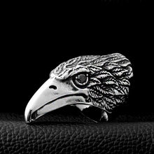 Load image into Gallery viewer, ENXICO Eagle Head Ring ? 316L Stainless Steel ? Animal Spirit Totem Jewelry (10)