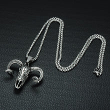 Load image into Gallery viewer, ENXICO Big Goat Ram Skull Pendant Necklace ? 316L Stainless Steel ? Paganic Symbol Jewelry