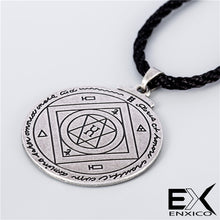 Load image into Gallery viewer, ENXICO The Great Pentacle Key of Solomon Amulet Pendant Necklace