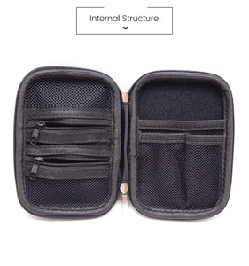 2TRIDENTS Mini Zipper Storage Bag - Provide Full Protection Against Scratches, Impacts, Shocks, Sunlight, Water and Dust (Black)