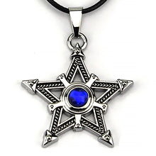 Load image into Gallery viewer, ENXICO Tetragrammaton Pentagram Pendant Necklace ? Silver Color ? Wicca Pagan Witchcraft Jewelry