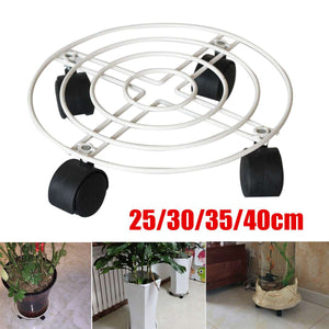 2TRIDENTS Potted Plant Stand Holder - ndoor & Outdoor Potted Plant Stand with Wheels - Garden Decor
