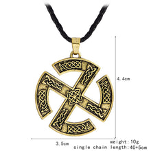 Load image into Gallery viewer, ENXICO Sun Cross Pendant Necklace with Celtic Knots Pattern ? Silver Color ? Nordic Scandinavian Viking Jewelry