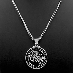 ENXICO Odin's 8 Legged Horse Sleipnir Pedant Necklace with Rune Circle ? Nordic Scandinavian Viking Jewelry (20)