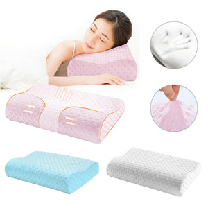 2TRIDENTS Memory Foam Neck Pillow - Pillow Support for Back, Stomach, Side Sleepers - for Cervical Health Care