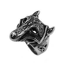 Load image into Gallery viewer, ENXICO Fenrir Wolf Head Ring ? 316L Stainless Steel ? Norse Scandinavian Viking Jewelry (10)