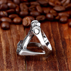 ENXICO Thor's Hammer Mjolnir Ring ? 316L Stainless Steel ? Norse Scandinavian Viking Jewelry