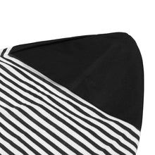 Load image into Gallery viewer, 2TRIDENTS Surfboard Sock Cover Ultra Light Protective Bag for Your Surfboard Essential Surfing Accessories (Black White 6.3)