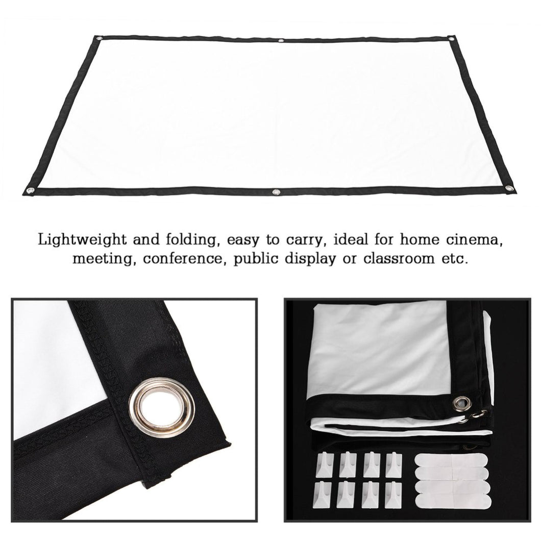 2TRIDENTS Foldable Projection Screen HD 16:9 - Projection Cine Screen for Company Home Outdoor Activities (100 inch)