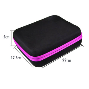 2TRIDENTS Essential Oil Carrying Case Storage Box for 63 Holders of 3ml Bottles Handheld Bag Travel Friendly (Black)