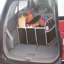 Load image into Gallery viewer, 2TRIDENTS Three-Compartment Car Trunk Organizer - Perfect for SUV, Auto, Vehicle, Family Vans, Travel and Camp - Automobiles Interior Accessories