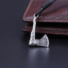 Load image into Gallery viewer, GUNGNEER Wicca Pentagram Celtic Tree of Life Pendant Necklace Viking Axe Bracelet Jewelry Set
