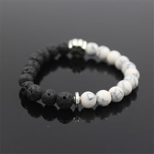 HoliStone Trendy Pitbull Dog Paw Charm with 8mm Lava Stone Stretch Bracelet ? Anxiety Stress Relief Yoga Meditation Energy Balancing Lucky Charm Bracelet for Women and Men