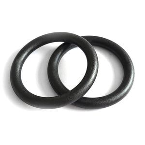 2TRIDENTS 2 Pcs ABS Gymnastic Ring for Cross-Training Workout, Strength Training, Gymnastics, Fitness, Pull Ups and Dips - Home Fitness Training Equipment