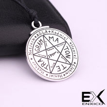 Load image into Gallery viewer, ENXICO Tetragrammaton Pentagram Charm Pendant Necklace