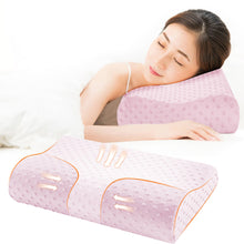 Load image into Gallery viewer, 2TRIDENTS Memory Foam Neck Pillow - Pillow Support for Back, Stomach, Side Sleepers - for Cervical Health Care