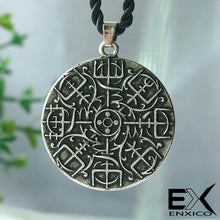 Load image into Gallery viewer, ENXICO Aegishjalmur Helm of Awe Amulet Pendant Necklace ? Grey Color ? Norse Scandinavian Viking Jewelry