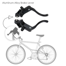 Load image into Gallery viewer, 2TRIDENTS 2 Pcs Black Aluminum Alloy Bicycle Brake Lever - A Must-Have Accessory for Bike - Ensure Your Safety When Meet Some Urgent Occasions