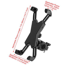 Load image into Gallery viewer, 2TRIDENTS Bicycle Phone Holder with 360 Degree Rotation Bike GPS Mount Bracket Anti Shake for Motorcycle, Cycling Bike, Treadmill (Black)