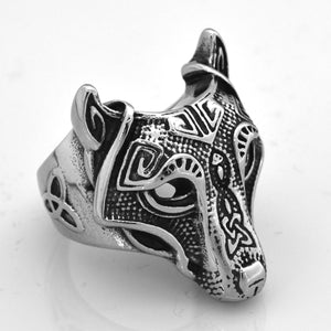 ENXICO Fenrir Wolf Head Ring ? 316L Stainless Steel ? Norse Scandinavian Viking Jewelry (10)