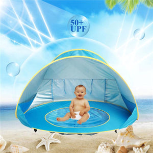 2TRIDENTS Baby Kids Beach Tent - Pop Up Portable Shade Pool, UV Protection - Sun Shelters Shade for Infant Baby