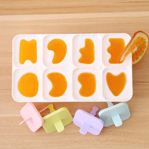 2TRIDENTS Set of 3 Pcs Silicone Homemade Popsicles Mold Ice Cream Mold Maker for Summer (a)